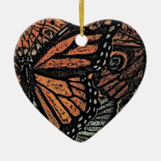 BUTTERFLY MOTIF Heart Ornaments