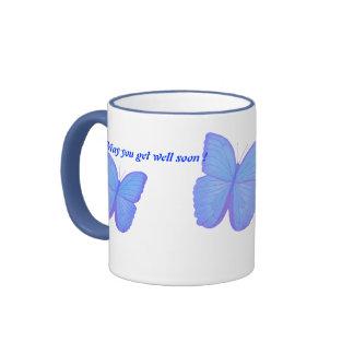 BUTTERFLY MUG, get well Ringer Mug