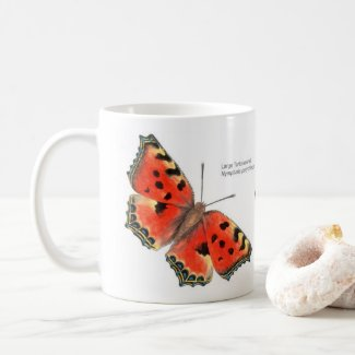 Butterfly Mug: Large Tortoiseshell Coffee Mug