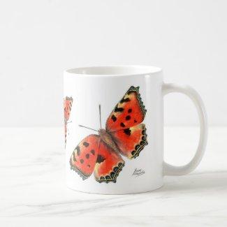 Butterfly Mug: Large Tortoiseshell Coffee Mug