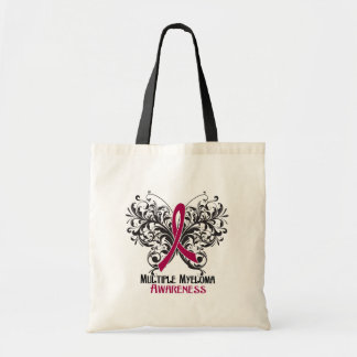Butterfly Multiple Myeloma Awareness Canvas Bags