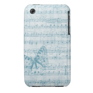 Butterfly Musical Romance Blue Case-Mate iPhone 3 Case