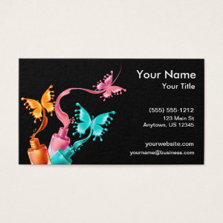 Butterfly Nail Polish Business Card