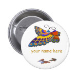 Butterfly name badge