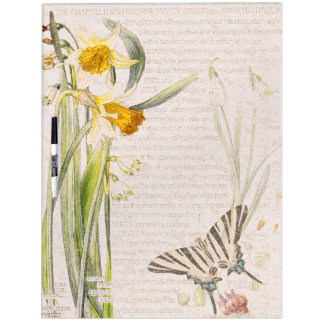 Butterfly Narcissus Flowers Dry Erase Board