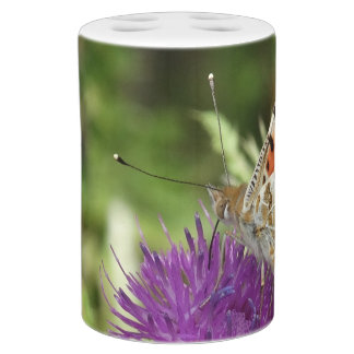 Butterfly Nature Photo Toothbrush Soap Dispenser