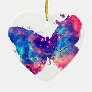 Butterfly Nebula Ceramic Heart Decoration