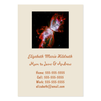 Butterfly Nebula in Scorpius Constellation Large Business Cards (Pack Of 100)