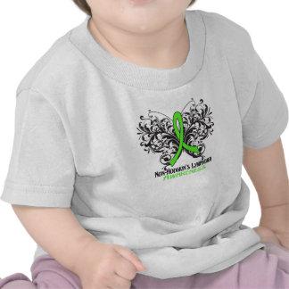 Butterfly Non-Hodgkins Lymphoma Awareness T-shirt