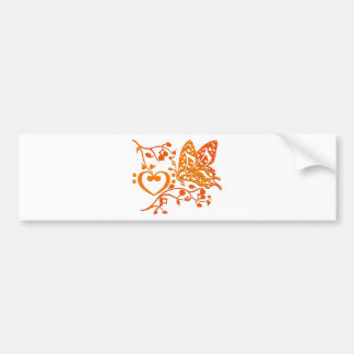 Butterfly_Notes Bumper Sticker