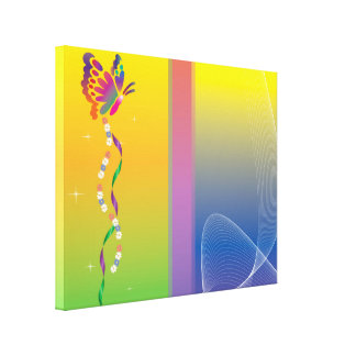 butterfly nuanced canvas print
