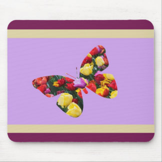 Butterfly of Tulips Mouse Mat