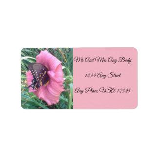 Butterfly on a Daylily  Address Label