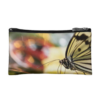 Butterfly on a Dish Makeup Bags