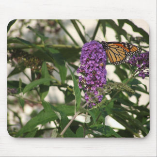 Butterfly on a Flower Mouse Mat