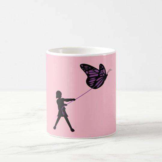 Butterfly on a Leash Coffee Mug