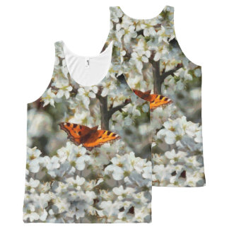 Butterfly on Blossom All-Over Print Tank Top