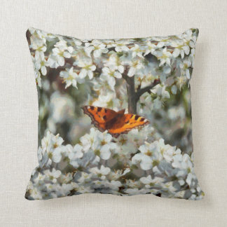 Butterfly on Blossom Cushion