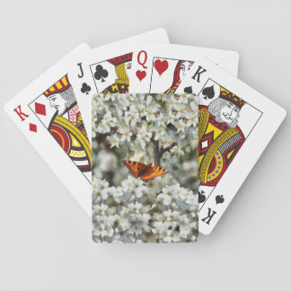 Butterfly on Blossom Playing Cards