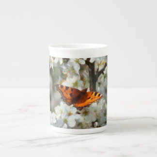 Butterfly on Blossom Tea Cup