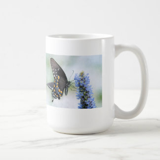 Butterfly on Blue Blossom mug