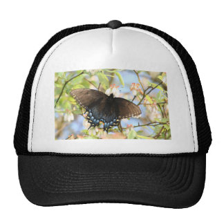 Butterfly on Blueberry Bush Mesh Hats