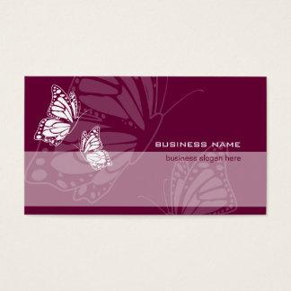 Butterfly on Burgundy Elegant Modern Simple Business Card