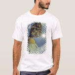 Butterfly on camomile flower with sun, T-Shirt