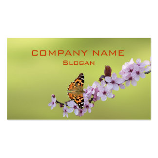 Butterfly on Cherry Blossom Business Card Template