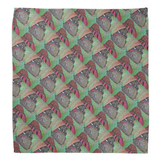 Butterfly on Coneflower Patterned Bandana