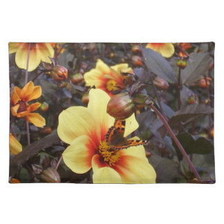 Butterfly on Dahlia Placemat