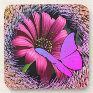 Butterfly on Daisy Coaster