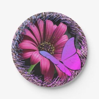 Butterfly on Daisy Paper Plate