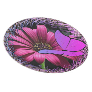 Butterfly on Daisy Plate