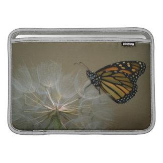 Butterfly on dandelion MacBook sleeve