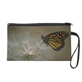 Butterfly on dandelion wristlet