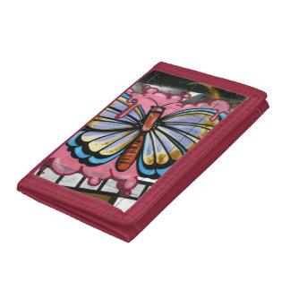 Butterfly on film tri-fold wallet