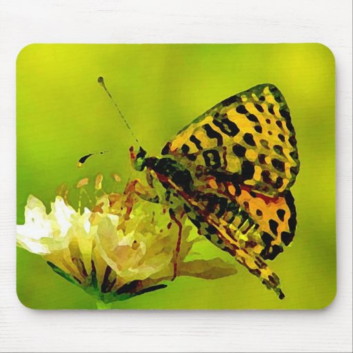 Butterfly on Flower Mouse Pad
