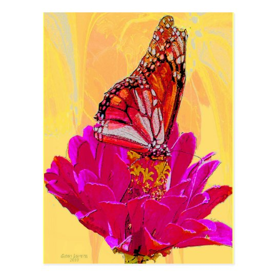 Butterfly on Flower products Postcard