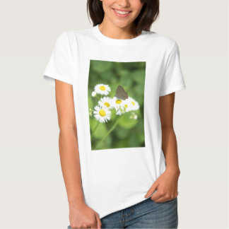 Butterfly on flower tshirts