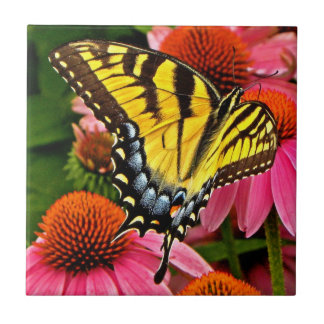 Butterfly on Flower v22 Tile