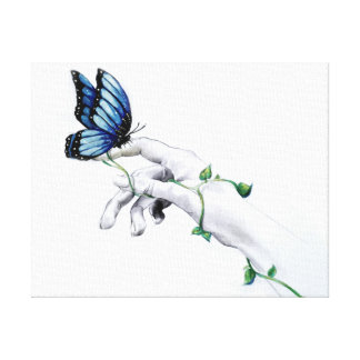 Butterfly on Hand Canvas