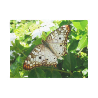 Butterfly on Jasmine Tropical Nature Photography Doormat