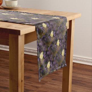 Butterfly on lavender short table runner