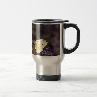 Butterfly on lavender travel mug