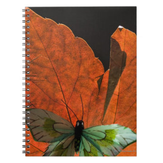 Butterfly on leaf 2 notebook