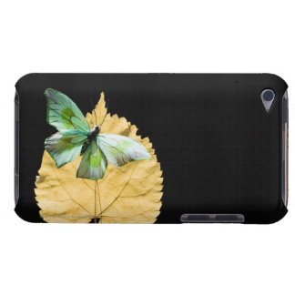 Butterfly on leaf barely there iPod cases