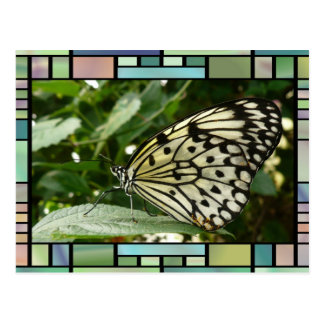 Butterfly on Leaf Greeting Card Postcard