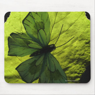 Butterfly on leaf mouse mat