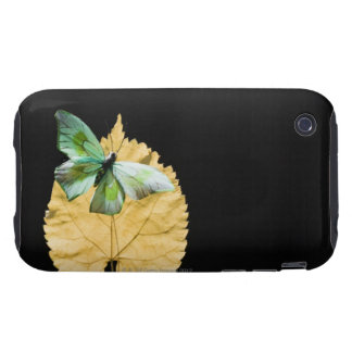 Butterfly on leaf tough iPhone 3 case